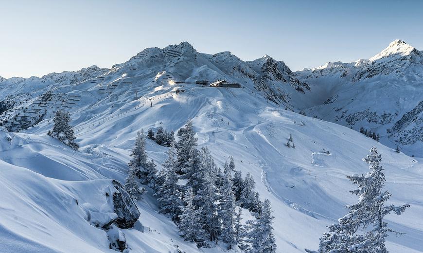 Winterlandschaft in den Bergen Montafons