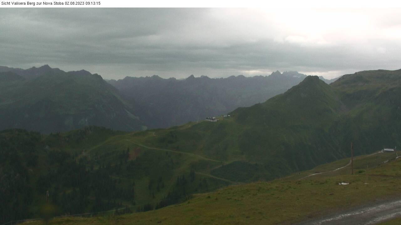 Silvretta Montafon webcam - Valisera Berg auf Nova Stoba