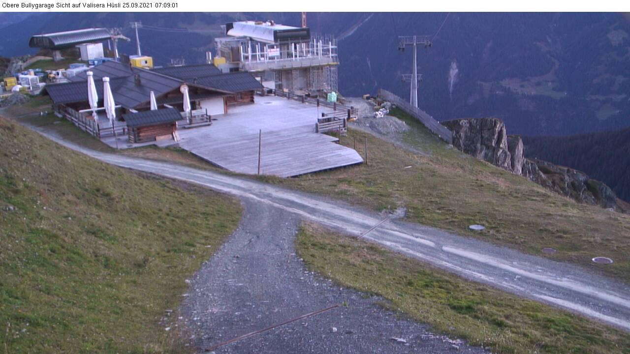 Silvretta Montafon Webcam mit Blick von Valisera Berg auf Nova Stoba
