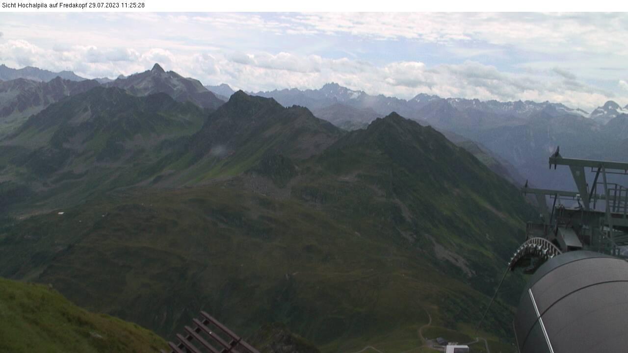 Silvretta Montafon - St. Gallenkirch-Gortipohl webcam - Hochalpila Berg auf Fredakopf