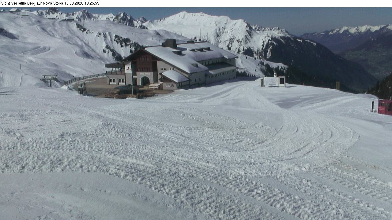 Panorama Webcam Silvretta Nova - Skigebiet, Wandergebiet - Nova Stoba - Blick auf Valisera Berg