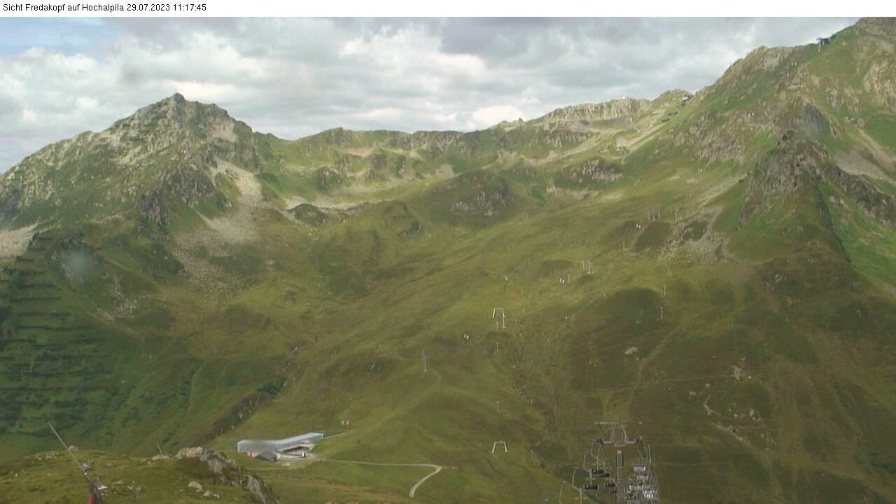 Webcam Fredakopf Bergstatin Blick auf Hochalpila